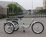 Велосипед трехколесный OMAKS OM-TR01-24-6 серебро колеса 24-24, 6 скоростей