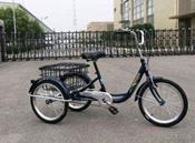 Велосипед трехколесный OMAKS OM-TR03-20-1 фиолет колеса 24-20, 1 скорость